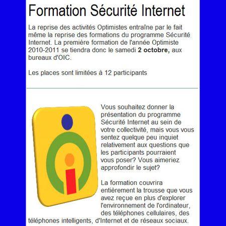 Sécurité Internet Optimiste
