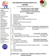Ordre du jour 18 février 2013