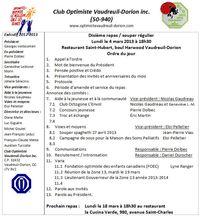 Ordre du jour du 4 mars 2013