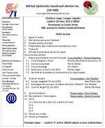 Ordre du jour du 18 mars 2013
