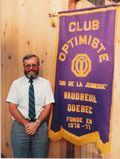 Robert Delorme 1er président du club optimiste de Vaudreuil Inc.
