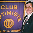 André Cournoyer 21e président du club optimiste Vaudreuil Inc.