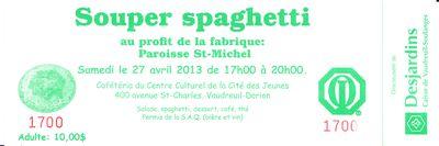 Spaghetti 27 avril 2013