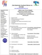 Ordre du jour 12 janvier 2014