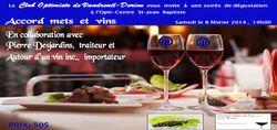 Club Optimiste Vaudreui-Dorionl, soirée Accord mets & Vins