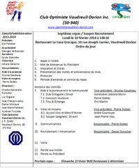 Ordre du jour 10 février 2014