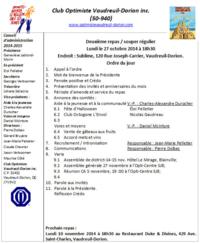 Ordre du jour 27 octobre 2014
