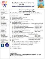 Club optimiste de Vaudreuil-Dorion ordre du jour lundi 10 novembre 2014