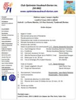 Ordre du jour club optimiste Vaudreuil-Dorion 9 mars 2015