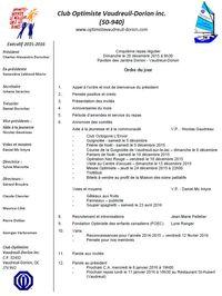 5e repas régulier club optimiste Vaudreuil-Dorion