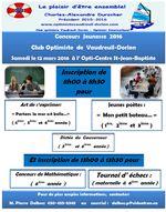 Concours Jeunesse 2016 club optimiste Vaudreuil-Dorion