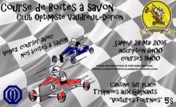 Affiche Course de boîtes à savon club optimiste Vaudreuil-Dorion 2016