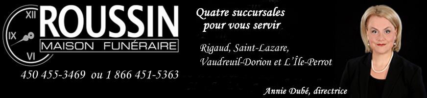 Maison Funéraire Roussin Avis de décès club optimiste Vaudreuil-Dorion -