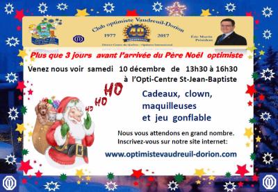 Club optimiste Vaudreuil-Dorion visite du Père Noël 10 décembre 2016