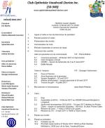 Ordre du jour 8e réunion du club optimiste Vaudreuil-Dorion
