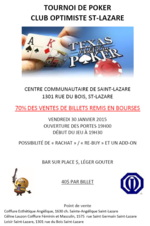 Tournoi de poker club optimiste St-Lazare 2015