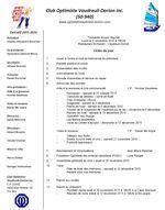 Ordre du jour club optimiste Vaudreuil-Dorion 9 novembre 2015
