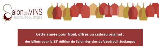 Cadeau original des billets pour la 13e édition du Salon des vins de Vaudreuil-Soulanges-1
