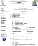Ordre du jour du 3e souper régulier club optimiste Vaudreuil-Dorion 14 novembre 2016