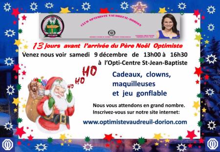 Père Noël club optimiste Vaudreuil-Dorion  samedi 9 décembre 2017 -1