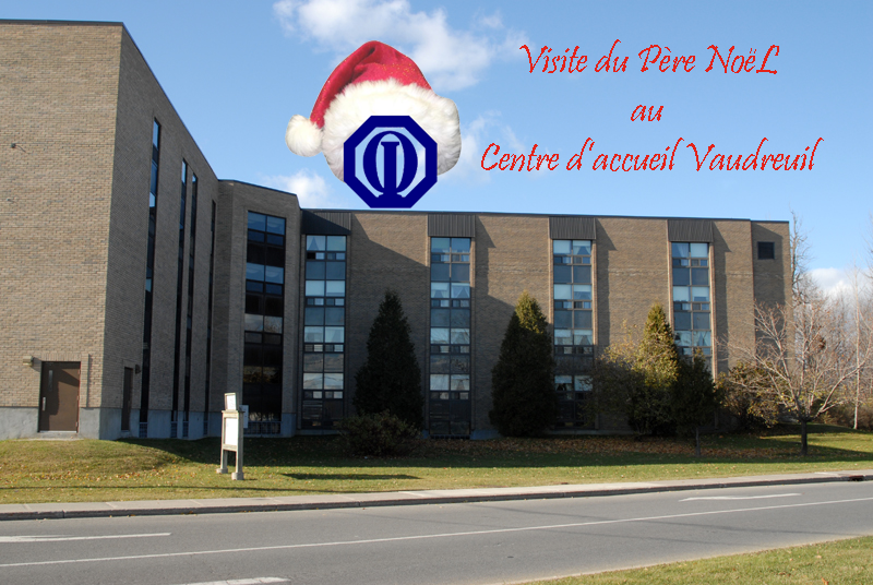 Club optimiste Vaudreuil-Dorion  visite du Père Noël au Centre d'accueil Vaudreuil