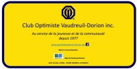 Stèle inscription 40 ans club optimiste Vaudreuil-Dorion