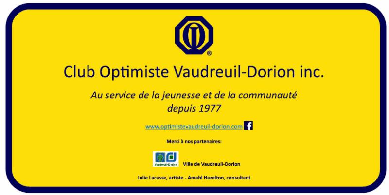 Stèle inscription 40 ans club optimiste Vaudreuil-Dorion