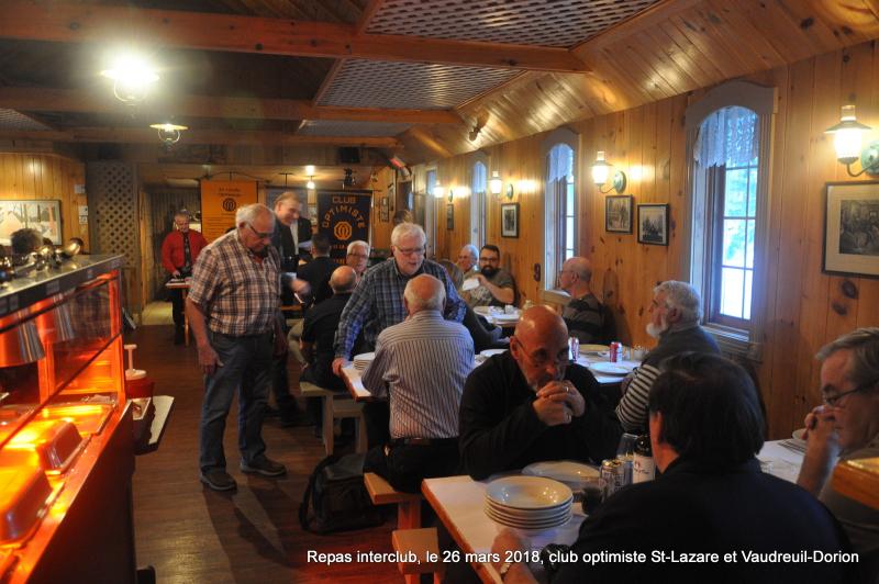 Repas interclub  le 26 mars 2018  club optimiste St-Lazare et Vaudreuil-Dorion (2)