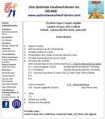 Ordre du jour club optimiste de Vaudreuil-Dorion lundi 23 mars 2015