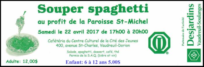 Souper Spaghetti 2017 club optimiste Vaudreuil-Dorion