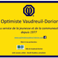 Inscription de la stèle club optimiste Vaudreuil-Dorion.