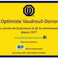 Inscription de la stèle club optimiste Vaudreuil-Dorion.