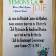 9e réunion (repas)  le 5 mars 2018  club optimiste Vaudreuil-Dorion (32)