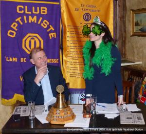 9e réunion (repas)  le 5 mars 2018  club optimiste Vaudreuil-Dorion (1)