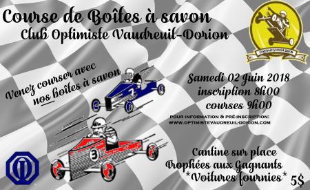 Affiche course boîte à savon 2018 club optimiste Vaudreuil-Dorion