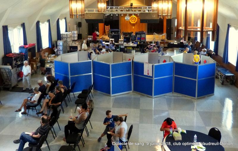Collecte de sang  9 juillet 2018  club optimiste Vaudreuil-Dorion (7)