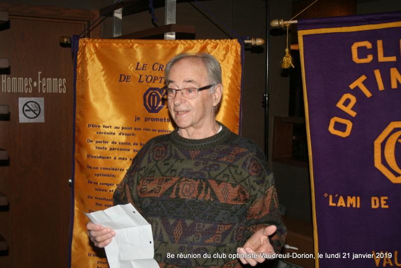8e réunion du club optimiste Vaudreuil-Dorion  le lundi 21 janvier 2019 (4)