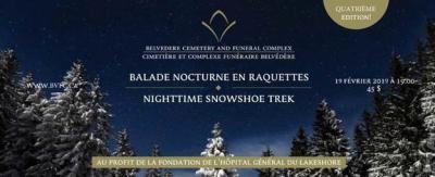 Balade nocturne en raquettes Fondation Hôpital général du Lakeshore 19 février 2019