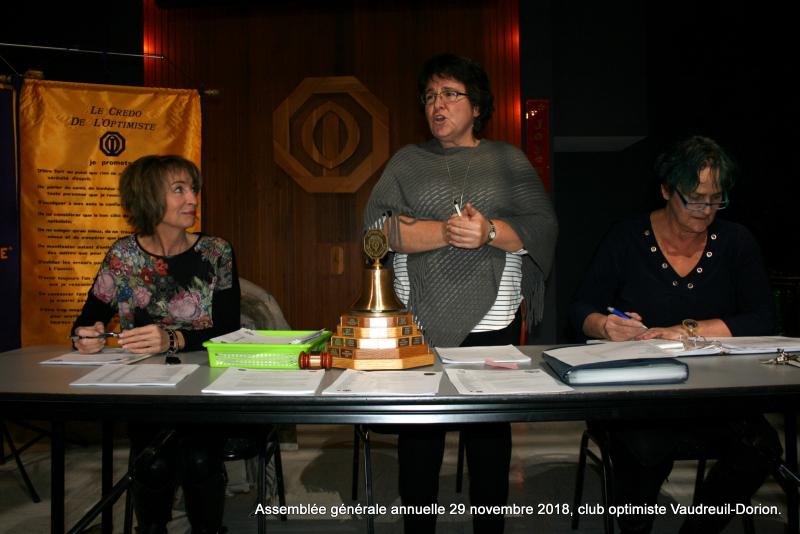 Assemblée générale annuelle le 29 novembre 2018  club optimiste Vaudreuil-Dorion (3)