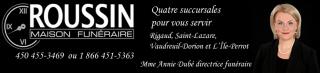 Maison Funéraire Roussin Avis de décès club optimiste Vaudreuil-Dorion