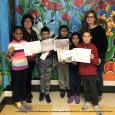 Gagnants de l'école Ste-Madeleine  au concours cartes de Noël 2018  du club optimiste Vaudreuil-Dorion