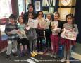 Gagnants de l'école St-Michel  au concours cartes de Noël 2018  du club optimiste Vaudreuil-Dorion