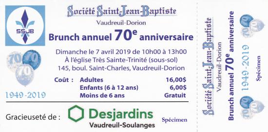 Brunch annuel 70e anniversaire Société Saint-Jean-Baptiste Vaudreuil-Dorion copie