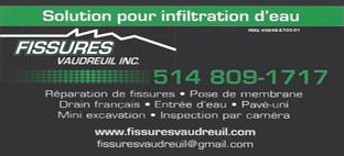 Fissures Vaudreuil Inc