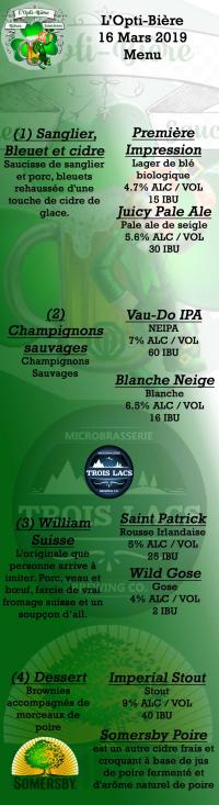 L'Opti-Bière club optimiste Vaudreuil-Dorion 16 mars 2019