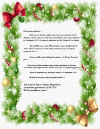 Invitation lieutenante-gouverneure Marie-Josée Roy  souper de Noël et la réunion de Zone 5  3 décembre 2019