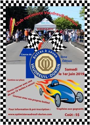 Course de boîtes à  savon club optimiste Vaudreuil-Dorion 1er juin 2019