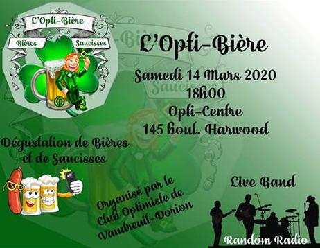 L'Opti-Bière samedi 14 mars 2020 club optimiste Vaudreuil-Dorion