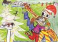 Gagnante du concours de dessin  carte de Noël 2019  Bella-Rose Laniel  2e année  club optimiste Vaudreuil-Dorion