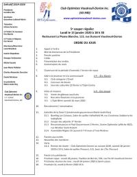 Ordre du jour 5e souper régulier 13 janvier 2020